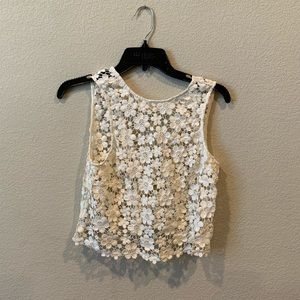 Tobi cream colored floral top
